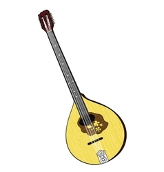 Colorful of Irish Bouzouki vector image