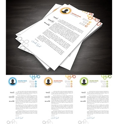 Cover Letter vector image