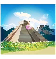 Mayan pyramids vector