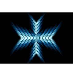 Abstract glow blue arrows design vector
