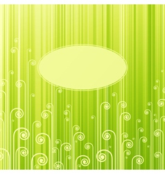 Abstract green swirls vector