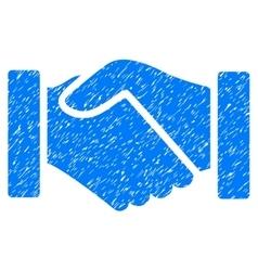 Acquisition handshake grainy texture icon vector