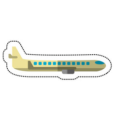 airplane transport flying image vector image vector image