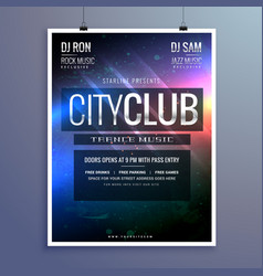 Amazing club music party flyer invitation template vector