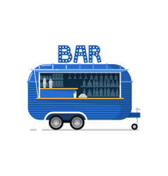 bar outdoor cafe service icon vector image