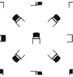 Black office chair pattern seamless black vector