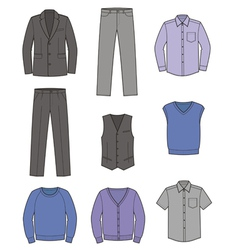 Business clothes vector image vector image