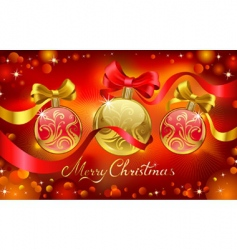 chrismas greeting card vector image vector image