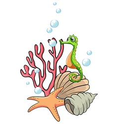 Creatures under the sea vector