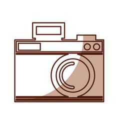 cute shadow camera cartoon vector image
