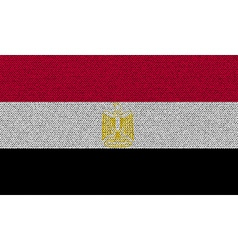 Flags Egypt on denim texture vector image vector image