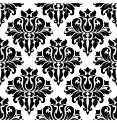 Floral seamless damask pattern vector