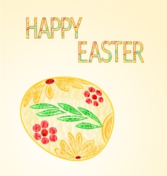 Happy Easter Easter egg from the polygons mosaic vector image vector image