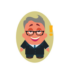 laughing smiling happy business man avatar of vector image vector image