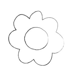 Monochrome blurred silhouette caricature of flower vector
