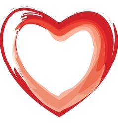 Painted red heart vector image vector image