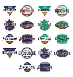 quality badge vector image vector image