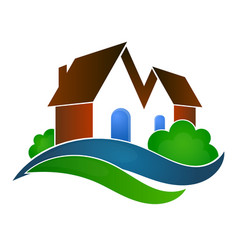 Sale of houses symbol vector