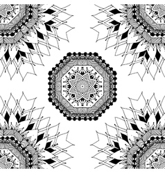 Seamless geometric pattern in oriental style vector image vector image