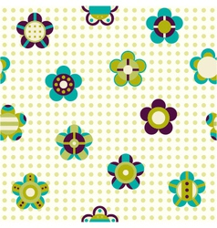 seamless pattern with flowers on a background vector image vector image