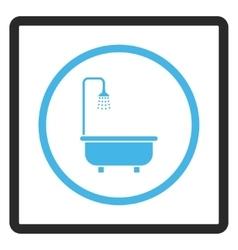 Shower bath framed icon vector