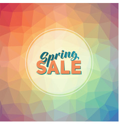 spring sale tag vector image