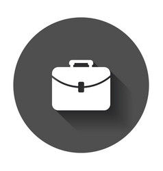 Suitcase icon luggage in flat style with long vector