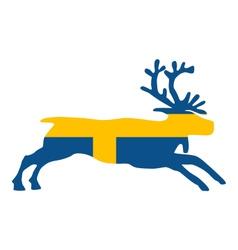 Swedish reindeer vector image