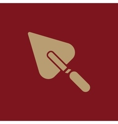 The trowel icon Mason and building repair vector image vector image