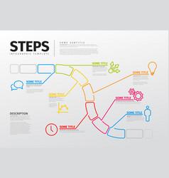 thin line steps progress timeline template vector image vector image