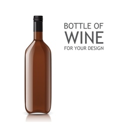 Transparent realistic empty bottle of wine vector image