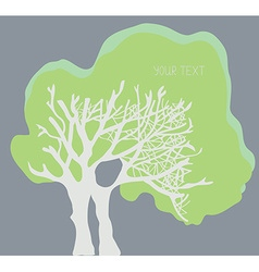 Tree banner with the copy space - simple design vector image vector image