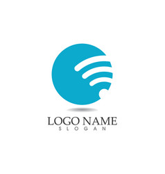 - wifi logo template icons app vector