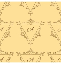 Vintage sketch seamless pattern with typography vector