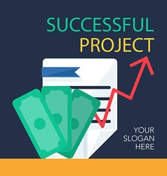 Successful project banner vector