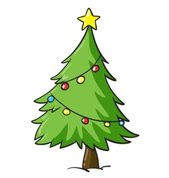 A christmas tree vector