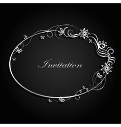 Decorative silver frame vector image
