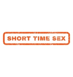 Short time sex rubber stamp vector