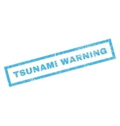 Tsunami warning rubber stamp vector
