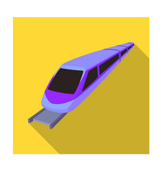 High speed train for transporting people over long vector