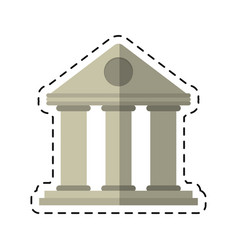 Cartoon university building style temple vector