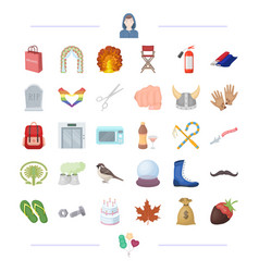 shopping traveling cooking and other web icon in vector image