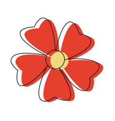 Flower petal decoration natural ornament vector