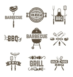 Barbecue And Grill Labels vector image