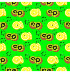Seamless pattern with elements of exotic fruits vector