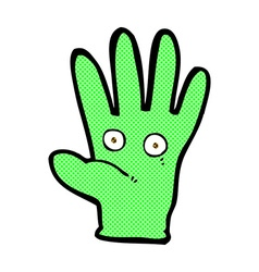 Comic cartoon hand with eyes vector