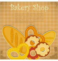 Bakery Cover menu vector image