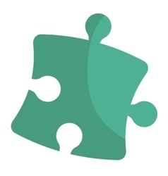 Puzzle piece isolated flat icon vector