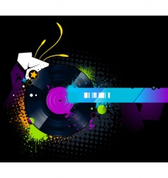 vinyl disc graffiti vector image