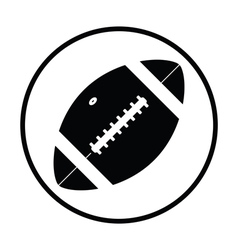 American football ball icon vector